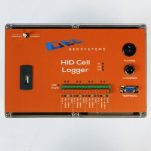 HID cell logger ideal for HID 3-D Stress Cells and Digital Extensometers. Memory for up to 10,000 readings