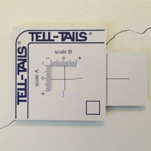 Tell-tails crackmeter is an easy to use crackmeter for monitoring small cracks on flat surfaces